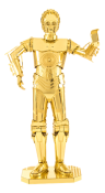 MMS270 Metal Earth Star Wars C3PO Gold