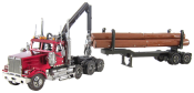 Fordon Premium Western Star 4900 Log Truck & Trailer (3,5 delar)