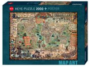 HE29847 Pirate World Map Art