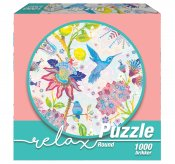Relax Hummingbird and Flowers 1000 b (Runt Pussel)