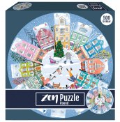ZEN Play Time in the Christmas Village 500 b (Runt Pussel)