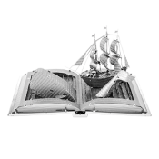 Blandat Moby Dick Book Sculpture ( 2 delar)