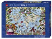 Fine Art Map Quirky World 2000