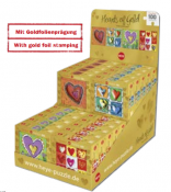 Display Hearts of Gold quadrat (100) 4 x designs