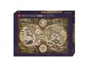 Fine Art Map Vintage World 2000